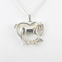 Sterling Silver Arabian Horse Necklace fr by DonnaPizarroDesigns