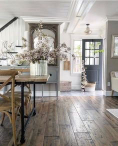 27 favourite furniture for modern farmhouse living room decor ideas 18 Home Design, Design Ideas, Farmhouse Style, Farmhouse Decor, Farmhouse Homes, Modern Farmhouse, Farmhouse Flooring, French Farmhouse, Farmhouse Design