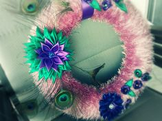 peacock wreath http://www.facebook.com/pages/Jewels-and-creations-by-Elisabet/188694694542313