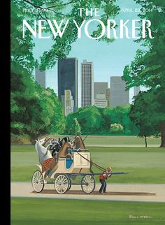 new yorker magazine covers central park - Google Search