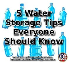 5 Water Storage Tips Everyone Should Know