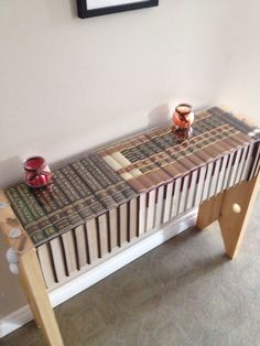 Shelf made from old encyclopedia's!