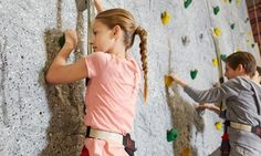 Rock-climbing gym access and full suite of gear support climbers across an indoor cave with a 160 ft. traverse and 45-degree bouldering wall