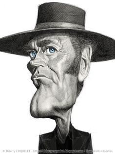 Henry Fonda, by Thierry Coquelet. Ballpoint on paper.