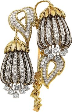 Rosamaria G Frangini | High Antique Jewellery  | Diamond & Gold Brooch