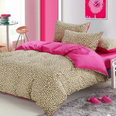 Beautiful Pink Cheetah Print Bedding Set Leopard Print Duvet Cover Set Colorful Mart,http://www.amazon.com/dp/B00E78IGGG/ref=cm_sw_r_pi_dp_1FPNsb06M9SWN684