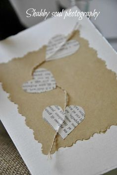 Shabby soul: Christmas Cards DIY - Together for Christmas. Could be trees, ornaments, etc. AA