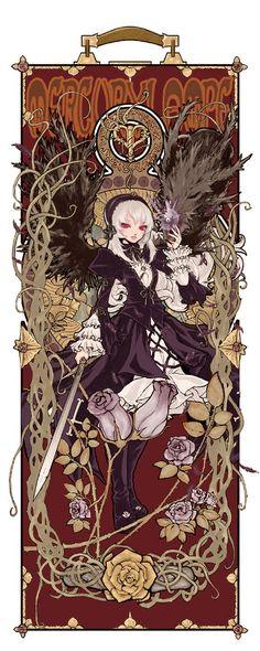 No larger size available Anime Sexy, Alphonse Mucha, Chiara Bautista, Anime Manga, Anime Art, Gothic Angel, Arte Horror, Anime Life, Manga Games