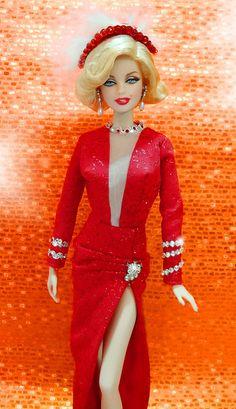 Marilyn Monroe Barbie as Lorelei Lee   by possiblezen