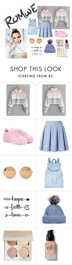 """ROMWE"" by aminadelic555 ❤ liked on Polyvore featuring Kenzo, Miss Selfridge, Victoria Beckham, BAGGU, Topshop and e.l.f."