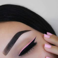 makeup, pink, and nails kép