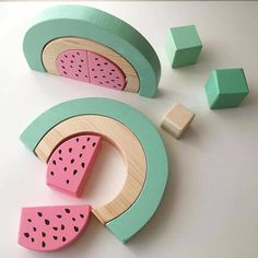 This is a handmade wooden watermelon stacking puzzle toy. This toy is created to. This is a handmade wooden watermelon stacking puzzle toy. This toy is created to help kids to develop their fine mot Birthday Gifts For Boys, Diy Gifts For Kids, Toddler Gifts, Toddler Toys, Diy For Kids, Help Kids, Boy Birthday, Handmade Wooden, Handmade Toys