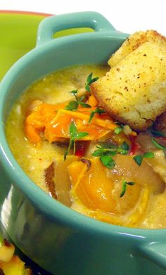 Yellow and Red Pepper Soup