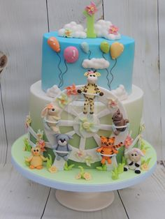 Animals, pinwheels and balloons - Cake by Shereen