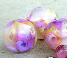 Twirling Lampwork Glass Beads Holiday Accessories by CandanImrak, $25.00