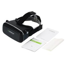 """Andoer 3D VR Glasses Virtual Reality 3D VR Video Movie Game Glasses Head-mounted with Headband for iPhone 6S 6 Samsung S6 Note 5 / All 3.5 ~ 6.0"""" Smart Phones. A great supplement and extending device of the network set-top box and bring you wonderful experience of watching movies and playing games. AS your private 3D theater, it offers you super 3D picture effect and wonderful immersive feeling, and protect your privacy. Effectively prevent visual fatigue and dizzy even after a long time…"""
