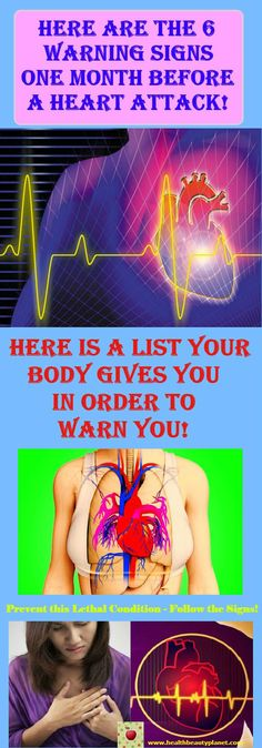 Here Are The 6 Warning Signs One Month Before A Heart Attack!