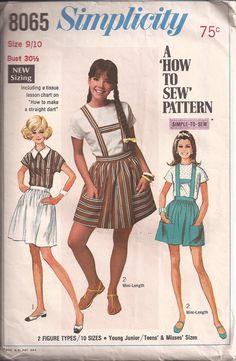 1960's Sewing Pattern  Simplicity 8065 Blouse by jennylouvintage