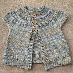 in threes: a baby cardigan