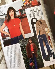@jeanedamas vogue russia// listed: lipstick chanel rouge allture velvet 56// trenchcoat vetements jeanne: tshirt rouje// jeans levi's