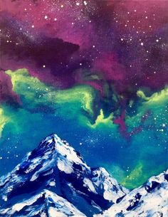 Galaxy Mountain at Winks Eatery - Paint Nite Events near London, ON>