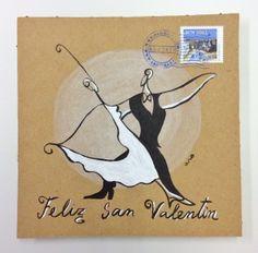 """""""El baile"""" Campaña #sanvalentin postales personalizadas de #aroideas  http://www.aroideas.com/postales/"""