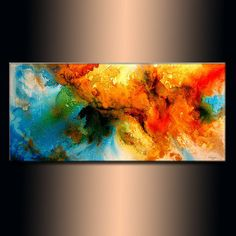 Modern Abstract Painting original Canvas art por newwaveartgallery