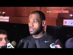 LeBron James gives a heartfelt interview after the Heat vs. Wizards game.