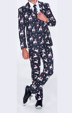 ugly christmas suit with matching tie mens christmas suit christmas ties tacky christmas - Christmas Suits For Mens