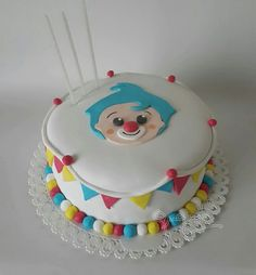 Circus Birthday, Circus Party, Boy Birthday, Birthday Cake, 30th Party, Baby Party, Fondant Cakes, Cupcake Cakes, Clown Cake