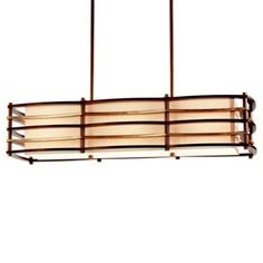 Moxie Linear Suspension by Kichler different sizes from $600-800 nice for island or dining room
