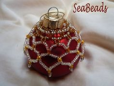 Beaded ornament covers.