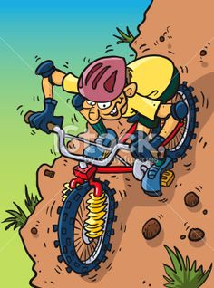 Mountain Bike Royalty Free Stock Vector Art Illustration