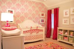 Elegant and Bold Pink Nursery