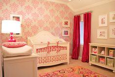 Elegant and Bold Pink Nursery