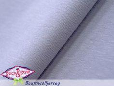 Jersey uni - hellgrau einfarbig Strech