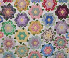 JoQuilter's Blog: Another hexagon quilt visits the shop