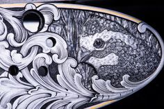 Hand engraved gun by Bill Oyster of Oyster Bamboo Fly Rods. Photo by David Cannon. Bamboo Fly Rod, Fly Rods, Shotguns, Hand Engraving, Cannon, Oysters, David, History, Art