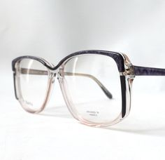 vintage 1980's NOS eyeglasses oversized purple marble black clear plastic frames prescription womens eyewear retro eye glasses modern new by RecycleBuyVintage on Etsy