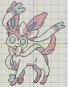 Buzy Bobbins: Sylveon - Pokemon cross stitch design