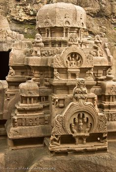 Jain Temple at Ellora Caves Maharashtra India Indian Temple Architecture, India Architecture, Ancient Architecture, Gothic Architecture, Ancient Ruins, Ancient History, Mayan Ruins, Ancient Greek, Sri Lanka