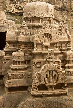 Jain Temple at Ellora Caves Maharashtra India Indian Temple Architecture, India Architecture, Ancient Architecture, Amazing Architecture, Gothic Architecture, Laos, Ajanta Ellora, Jain Temple, Amazing India