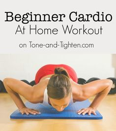 Low impact beginner cardio workout you can do at home! #workout from Tone-and-Tighten.com