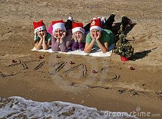 Christmas Family On Sand Beach Stock Image - Image of celebration, girls: 17268055 beach+family+christmas+pictures Beach Christmas Pictures, Beach Family Photos, Beach Pictures, Christmas Photos, Family Pictures, Christmas Photography, Family Photography, Christmas Portraits, Family Christmas Cards