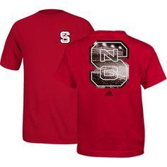 NC State adidas® Red Carter Finley Football Stadium T-Shirt Buy Now- http://redandwhiteshop.com/products/nc-state-wolfpack-adidas-red-carter-finley-football-stadium-t-shirt