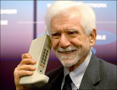 On April 3, 1973, Martin Cooper debuted the first cell phone featuring a fashionable brick-like design. The model looked as stylish as a shoebox and weighed a hefty 30 ounces. The bells and whistles on this design were the sounds you heard when pressing buttons, as the phone's primary purpose was to make phone calls.