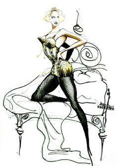 The Blond Ambition Tour/Croquis des costumes par Jean-Paul Gaultier - Madonna Gettogether