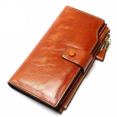 Cheap wallet mini, Buy Quality wallet bag directly from China bags music Suppliers: 2017 New Design Fashion Multifunctional Purse Genuine Leather Wallet Women Long Style Cowhide Purse Wholesale And Retail Bag Cowhide Purse, Cowhide Leather, Cow Leather, Vintage Leather, Card Wallet, Purse Wallet, Coin Purse, Wholesale Purses, Branded Wallets