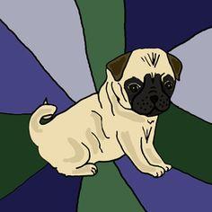 Cool Pug Dog Abstract by enjoythemoment at zippi.co.uk