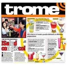 Nota de prensa del diario Trome para nuestro cliente la cadena de restaurantes Puerto Norte.